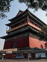 Trommelturm-Gulou, Peking, China, Asien<br /> drum-tower Gulou, Beijing, China, Asia