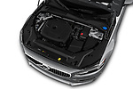 Car stock 2019 Volvo S90 T6 Inscription 4 Door Sedan engine high angle detail view