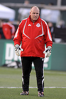 Mike Toshack, Toronto FC Goalkeeping Coach. Toronto FC defeated Kansas City Wizards 3-2 at Community America Ballpark, Kansas City, Kansas. March 21, 2009.