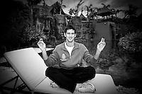 Tenis, Davis Cup.Spain Vs. Serbia.Novak Djokovic, poses at Barcelo hotel.Benidorm, 04.03.2009..Photo: © Srdjan Stevanovic/Starsportphoto.com