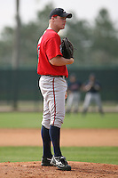 March 23rd 2008:  Derick Himpsl of the Atlanta Braves minor league system during Spring Training at Disney's Wide World of Sports in Orlando, FL.  Photo by:  Mike Janes/Four Seam Images