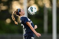 Sky Blue FC midfielder Manya Makoski (22). Sky Blue FC defeated the Washington Spirit 1-0 during a National Women's Soccer League (NWSL) match at Yurcak Field in Piscataway, NJ, on August 3, 2013.