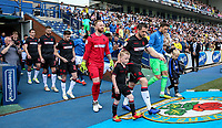 Bolton Wanderers' Andrew Taylor leads his team onto the pitch <br /> <br /> Photographer Andrew Kearns/CameraSport<br /> <br /> The EFL Sky Bet Championship - Blackburn Rovers v Bolton Wanderers - Monday 22nd April 2019 - Ewood Park - Blackburn<br /> <br /> World Copyright © 2019 CameraSport. All rights reserved. 43 Linden Ave. Countesthorpe. Leicester. England. LE8 5PG - Tel: +44 (0) 116 277 4147 - admin@camerasport.com - www.camerasport.com