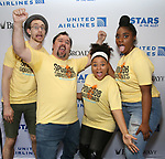 Alex Gibson, Brian Ray Norris, Brynn Williams and Jai'Len Christine  attends the United Airlines Presents: #StarsInTheAlley Produced By The Broadway League on June 1, 2018 in New York City.