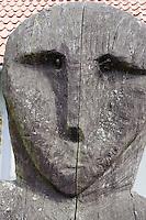Holzschnitzerei auf der kurischen Nehrung, Litauen, Europa