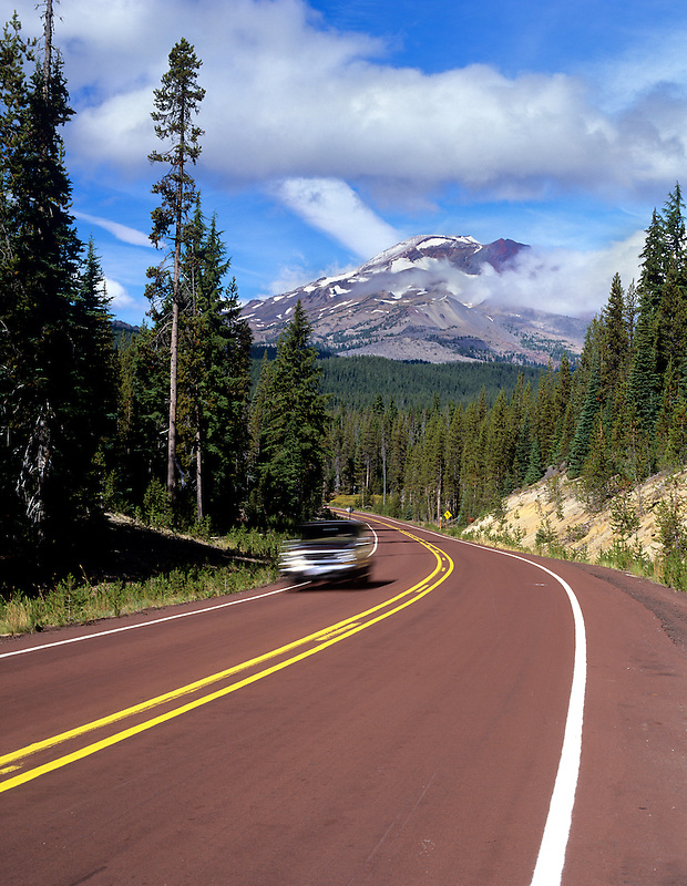 South Sister Mountain and Century Drive. Oregon.