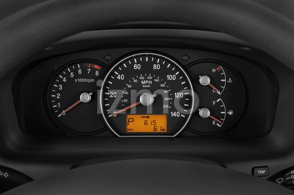 Instrument panel close up detail view of a 2008 Kia Rondo EX V6