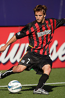 The MetroStars' Mike Magee. The LA Galaxy were defeated by the NY/NJ MetroStars 2 to 1 at Giant's Stadium, East Rutherford, NJ, on June 19, 2004.