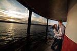 Hudson River Sunset Engagement