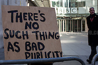 """13.11.2016 - """"No Platform for Le Pen at the BBC Protest"""""""
