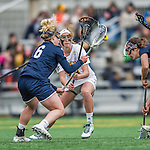 25 April 2015: University of Vermont Catamount Midfielder Vanessa VanderZalm, a Junior from Pelham, Ontario, in action against the University of New Hampshire Wildcats at Virtue Field in Burlington, Vermont. The Lady Catamounts defeated the Lady Wildcats 12-10 in the final game of the season, advancing to the America East playoffs. Mandatory Credit: Ed Wolfstein Photo *** RAW (NEF) Image File Available ***