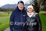 Grainne and Peter Bellew enjoying a stroll in the town park in Killarney on Saturday.