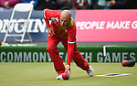 Wales Marc Wyatt in action against Northern Ireland<br /> <br /> Photographer Ian Cook/Sportingwales<br /> <br /> 20th Commonwealth Games - Lawn Bowls -  Day 4 - Sunday 27th July 2014 - Glasgow - UK