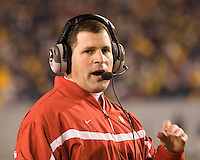 02 December 2006: Rutgers head coach Greg Schiano..The West Virginia Mountaineers defeated the Rutgers Scarlet Knights 41-39 in triple overtime on December 02, 2006 at Mountaineer Field, Morgantown, West Virginia. .