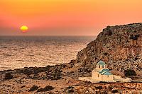 The sunset in Finiki of Karpathos, Greece