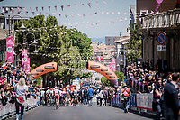 the race start in Vasto (overlooking the Adriatic Sea in the background)<br /> <br /> Stage 7: Vasto to L'Aquila (180km)<br /> 102nd Giro d'Italia 2019<br /> <br /> ©kramon