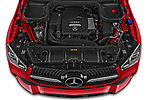 Car Stock 2021 Mercedes Benz GLE-Coupe 350-e-AMG-Line 5 Door SUV Engine  high angle detail view
