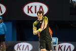 Andy Murray (GBR) loses in the final at the Australian Open on January 27, 2013 in Melbourne