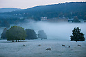 29/09/18<br /> <br /> Dawn mist and frost surround Chatsworth House in the Derbyshire Peak District near Bakewell.<br /> <br /> All Rights Reserved, F Stop Press Ltd. (0)1335 344240 +44 (0)7765 242650  www.fstoppress.com rod@fstoppress.com