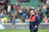 Eddie Jones, FEBRUARY 27, 2016 - Rugby : Eddie Jones,England Head Coach looks on before the RBS 6 Nations match between England and Ireland at Twickenham Stadium, London, United Kingdom. (Photo by Rob Munro)