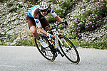 Pierre Latour (FRA) AG2R La Mondiale descends Col de la Madeleine during Stage 3 of Criterium du Dauphine 2020, running 157km from Corenc to Saint-Martin-de-Belleville, France. 14th August 2020.<br /> Picture: ASO/Alex Broadway | Cyclefile<br /> All photos usage must carry mandatory copyright credit (© Cyclefile | ASO/Alex Broadway)