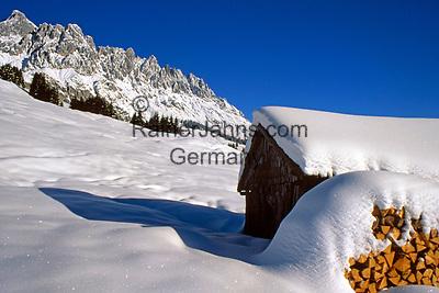 Oesterreich, Salzburger Land, Winterlandschaft am Hochkoenig bei Dienten | Austria, Salzburger Land, Winter Scenery at Hochkoenig Mountains near Dienten