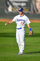 Brock Carpenter (23) of the Ogden Raptors before the game against the Missoula Osprey in Pioneer League action at Lindquist Field on July 13, 2016 in Ogden, Utah. Ogden defeated Missoula 8-2. (Stephen Smith/Four Seam Images)