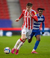 6th February 2021; Bet365 Stadium, Stoke, Staffordshire, England; English Football League Championship Football, Stoke City versus Reading; Jack Clarke of Stoke City chases a loose ball