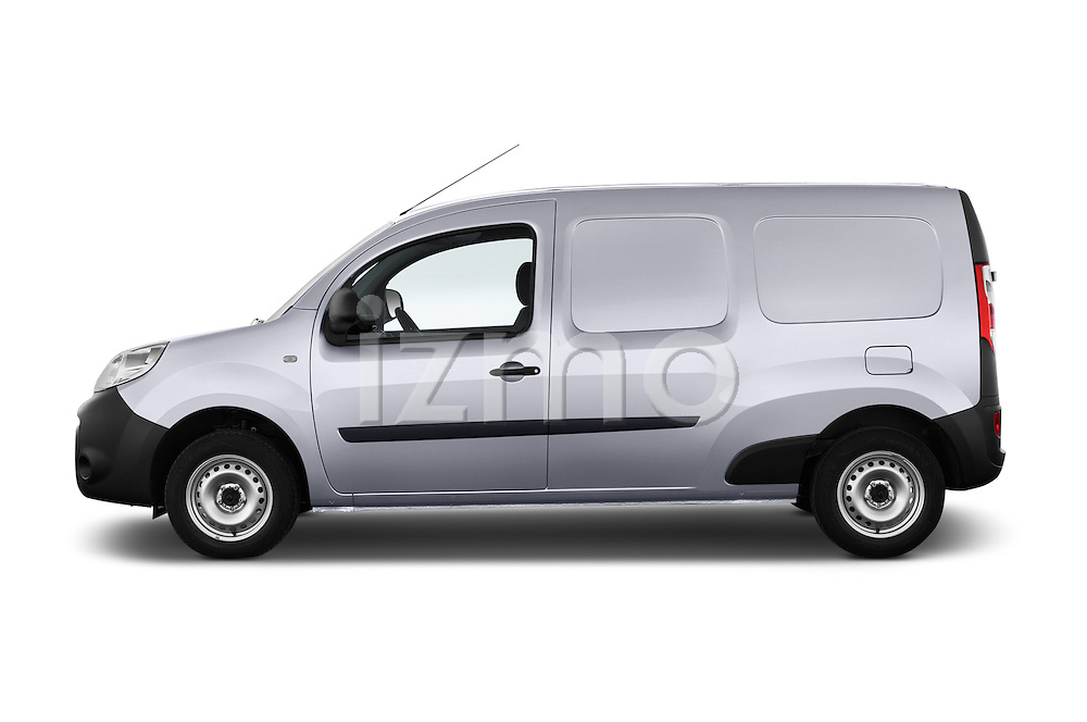 Driver side profile view of a 2013 - 2014 Renault Kangoo Express Maxi 5 Door Mini Mpv.