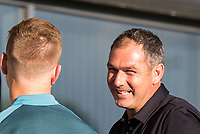 Swansea City Manager Paul Clement smiles during the 2017/18 Pre Season Friendly match between Barnet and Swansea City at The Hive, London, England on 12 July 2017. Photo by Andy Rowland.