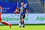 Waldhofs Marcel Seegert (Nr.5) am Ball beim Spiel in der 3. Liga, SV Waldhof Mannheim - FSV Zwickau.<br /> <br /> Foto © PIX-Sportfotos *** Foto ist honorarpflichtig! *** Auf Anfrage in hoeherer Qualitaet/Aufloesung. Belegexemplar erbeten. Veroeffentlichung ausschliesslich fuer journalistisch-publizistische Zwecke. For editorial use only. DFL regulations prohibit any use of photographs as image sequences and/or quasi-video.