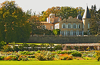 Chateau Lafite Rothschild in Pauillac, Medoc, Bordeaux, with park garden