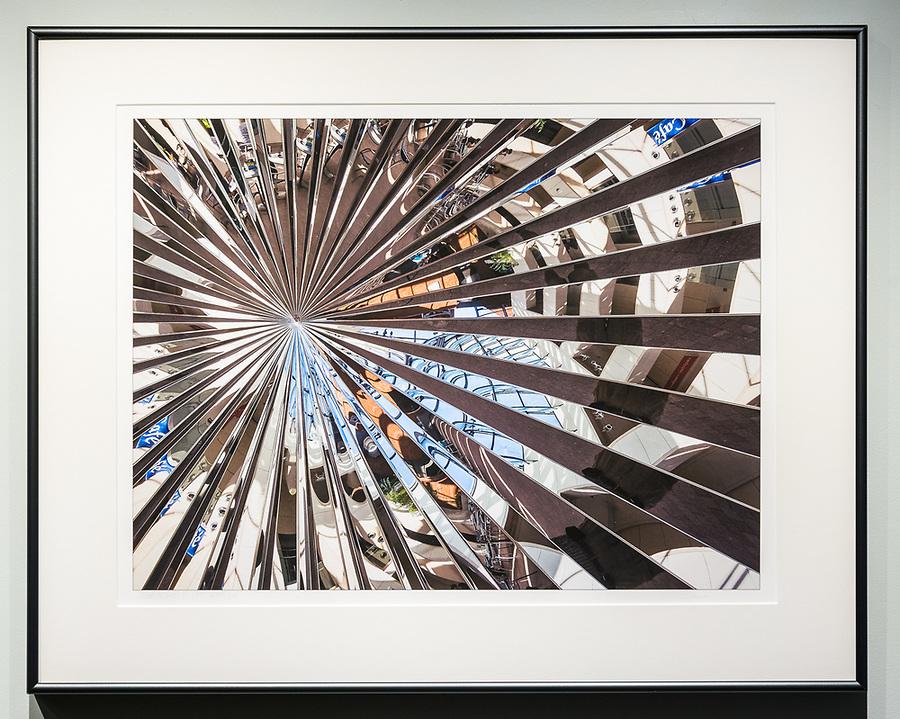 """Framed Size 21""""h x 26.5""""w,  $675<br /> Graphite Nielsen 15 metal frame"""