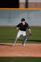 Devin Greaff (1) of Crosby High School in Crosby, Texas during the Baseball Factory All-America Pre-Season Tournament, powered by Under Armour, on January 13, 2018 at Sloan Park Complex in Mesa, Arizona.  (Mike Janes/Four Seam Images)