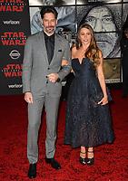 "Sofia Vergara & Joe Manganiello at the world premiere for ""Star Wars: The Last Jedi"" at the Shrine Auditorium. Los Angeles, USA 09 December  2017<br /> Picture: Paul Smith/Featureflash/SilverHub 0208 004 5359 sales@silverhubmedia.com"