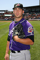 May 30, 2009:  Pitcher Zach Putnam of the Akron Aeros poses for a photo before a game at Jerry Uht Park in Erie, NY.  The Aeros are the Eastern League Double-A affiliate of the Cleveland Indians.  Photo by:  Mike Janes/Four Seam Images