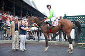 Bodie Island in the winners circle after the 3rd race. With Brian Crowley, Jonathan Sheppard, Anne Sinchak.