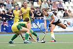 GER - Mannheim, Germany, May 24: During the U16 Girls match between Australia (green) and Germany (white) during the international witsun tournament on May 24, 2015 at Mannheimer HC in Mannheim, Germany. Final score 0-6 (0-3). (Photo by Dirk Markgraf / www.265-images.com) *** Local caption *** Sonja Zimmermann #13 of Germany