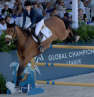 MIAMI BEACH, FL - APRIL 19: Athina Onassis at the Longines Global Champions Tour stop in Miami Beach. Singer Bruce Springsteen's daughter Jessica Rae Springsteen and fellow riders Former Mayor of New York Michael Bloomberg's daughter Georgina Bloomberg as well as Bill Gates daughter Jennifer Gates were all in attendance on April 19, 2019 in Miami Beach, Florida<br /> <br /> <br /> People:  Athina Onassis