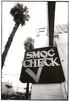 Smog check sign<br />