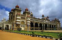 Decorative exterior of the Mysore Palace, Mysore, India.