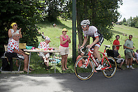 Gregory Rast (SUI/Trek-Segafredo) dropping by for lunch<br /> <br /> Stage 18 (ITT) - Sallanches › Megève (17km)<br /> 103rd Tour de France 2016