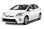 2015 Toyota Prius Comfort 5 Door Hatchback Angular Front stock photos of front three quarter view