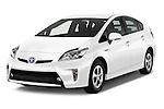 2015 Toyota Prius Comfort 5 Door Hatchback Angular Front stock photos of front three quarter view