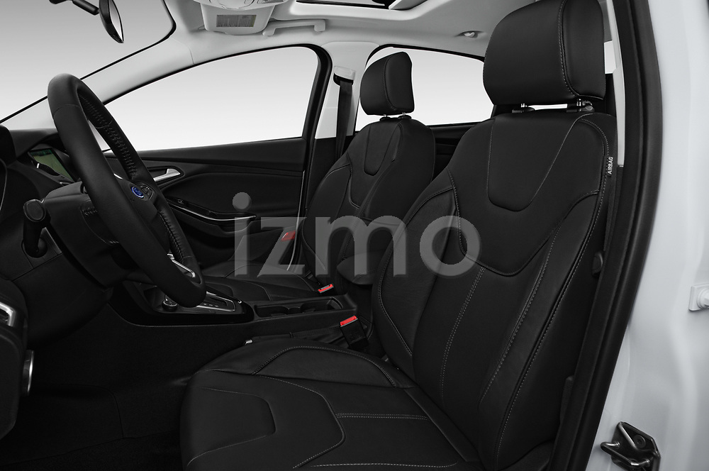 Front seat view of 2017 Ford Focus Titanium 4 Door Sedan Front Seat  car photos