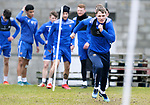 St Johnstone Training....24.02.21<br />Jason Kerr pictured during training at McDiarmid Park ahead of Sunday's BETFRED Cup Final against Livingston at Hampden Park.<br /><br />Picture by Graeme Hart.<br />Copyright Perthshire Picture Agency<br />Tel: 01738 623350  Mobile: 07990 594431
