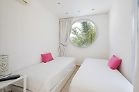 BNPS.co.uk (01202 558833)<br /> Pic: CapVillas/BNPS<br /> <br /> There are four bedrooms<br />  <br /> A glamorous villa that has hosted a string of celebrities including Winston Churchill, Pablo Picasso, the Duke of Windsor and Edith Piaf is on the market for £9m (10.5m euros).<br /> <br /> The exquisite Villa La Garoupe Beach sits on a natural sand beach and has its own private beach on one of the French Riviera's most exclusive spots.<br /> <br /> It was once a renowned beach club and the list of names connected to the property are endless. French singer Edith Piaf hosted her engagement party to Theo Sarapo there and it was also visited by former US President Harry Truman, writer Ernest Hemingway, Bond actor Sean Connery and movie star Marlene Dietrich.<br /> <br /> The property in Cap d'Antibes has four bedrooms suitable for six to eight people, three bathrooms and a living area overlooking the sea.