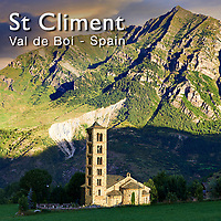 Photos of the Church of Sant Clement de Taull, Vall de Boi, Alta Ribagorca, Spain.