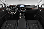 Stock photo of straight dashboard view of 2018 Lexus ES 300h 4 Door Sedan Dashboard