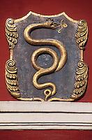 Tschechien, Prag, Hauszeichen auf der Karlova, Unesco-Weltkulturerbe